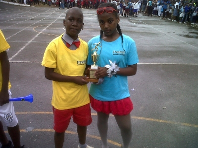 Freshhh awards for Champion girl and boy at Mannigns Hill All Age