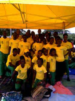 St. Jago High School Track Team sponsored by Freshhh